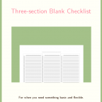 Three-section Blank Checklist (free printable)