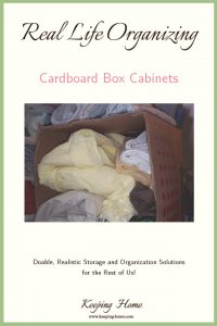 Real Life Organizing: Cardboard Box Cabinets