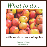 What to do with an abundance of apples.