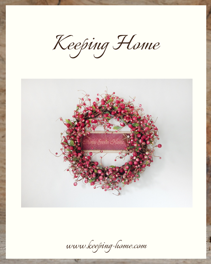 Keeping Home is dedicated to promoting positive homekeeping, helping keep Christian homes healthy and happy, and protecting the existence of home, sweet home, one family at a time.