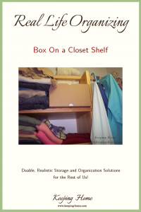 Real Life Organizing: Box On a Closet Shelf