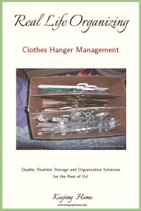 Real Life Organizing: Clothes Hanger Management