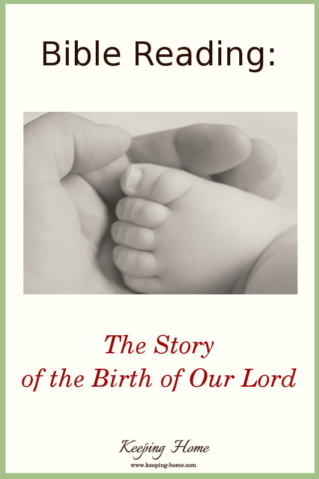 Bible Reading: The Story of the Birth of Our Lord. A dramatized reading of the Christmas story.