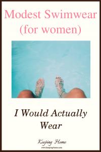 Modest Swimwear (for women) I Would Actually Wear