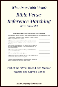 What Does Faith Mean Bible Verse Reference Matching