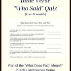 What Does Faith Mean Bible Verse Who Said Quiz