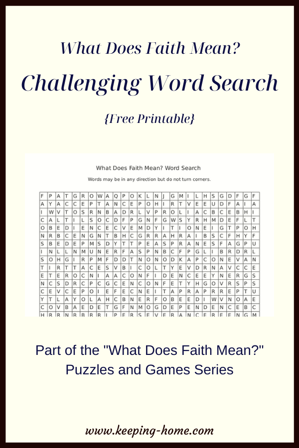 What Does Faith Mean? Challenging Word Scramble