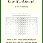 What Does Worship Mean? Easy Word Search