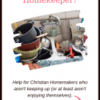 Are you a struggling homekeeper? Help for Christian homemakers who aren't keeping up (or at least aren't enjoying themselves)